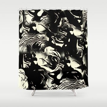 Abstract Roses Shower Curtain by MaksciaMind