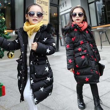 Jacket For Girls 4 5 6 7 8 9 10 11 12 13 Years Teenagers Autumn Winter Warm Baby Girl Coat Kids Teens Clothes Children Clothing