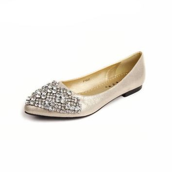 Flats Shoes Women Ballet Princess For Casual Crystal Boat Shoes Rhinestone Women Flats Shoes