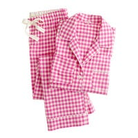 Pajama set in flannel gingham