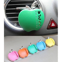 1Pc Cute Apple Shape Car Air Conditioning Vent Perfume Air Freshener Fragrance