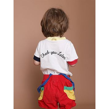 KIDS CHECK YOU LATER RINGER TEE