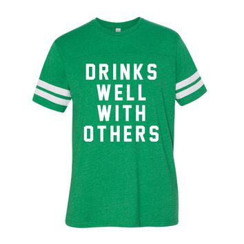 DRINKS WELL WITH OTHERS - MENS TEE