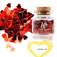 ZERO NANA Heart Type Sequins Nail Art Decoration Red - Default