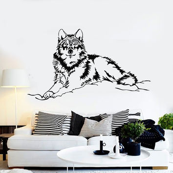 Vinyl Wall Decal Wolf Animal Tribal Art Stickers Mural (ig3892)