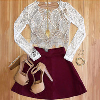 Sasha Lace Top - White