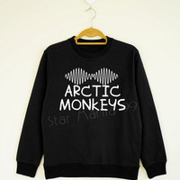 Arctic Monkeys TShirt Music TShirt Indie Rock TShirt Text Sweater Shirt Sweatshirt Jumpers Long Sleeve Women Shirt Unisex Shirt Size S,M,L