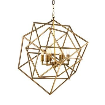 Gold Cubist Chandelier | Eichholtz Matrix