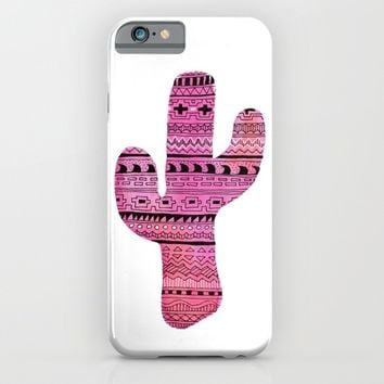 cactus iPhone & iPod Case by Messy Bed Studio