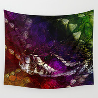 Interstellar Snake Wall Tapestry by Distortion Art