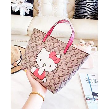 Gucci fashion hot seller: shopping one-shoulder bag with cartoon print for ladies