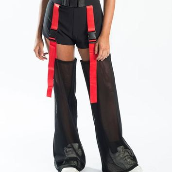 FURY ROAD CHAPS - BLACK RED