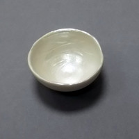 Porcelain Small Bowl with Irridecent Pearl Interior - For Her Birthday Gift idea Wedding Christening Present