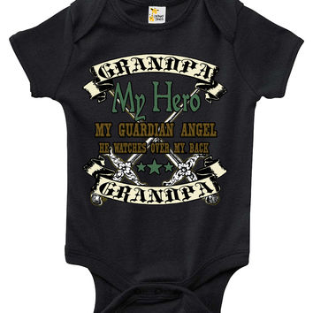 Baby Bodysuit - Grandpa My Hero