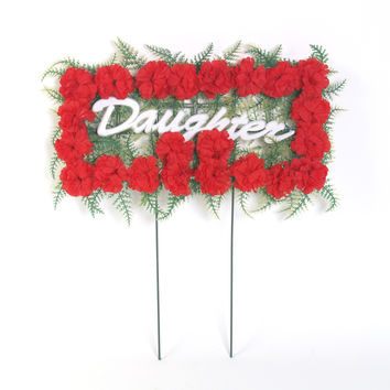 Daughter Pillow Arrangement - Red - 18 Inch