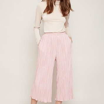 'harley' dusty pink pleated trouser
