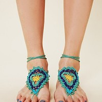Free People Crochet Sun Foot Tie