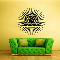 Wall Vinyl Sticker Decals Decor Art Bedroom Design Mural Illuminati All seeing eye annuit coeptis (z2200)