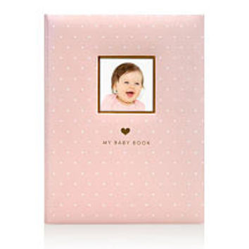 Little Blossoms by Pearhead Sweet Welcome Gold Foil Pink Baby Book