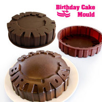 Suck UK Happy Birthday Cake Mold Silicone Baking Pan Party Kids Funny Cute Cool