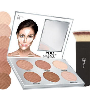 IT Cosmetics You Sculpted! Universal Contouring Palette w/Brush — QVC.com
