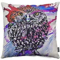 Owl Throw Pillows by Galen Valle | Nuvango