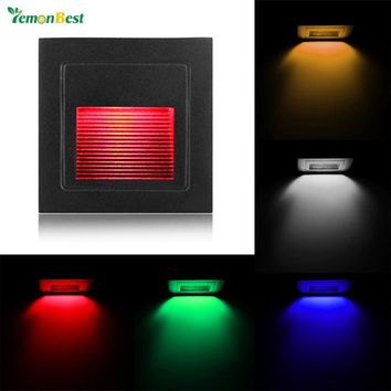 Modern Style Stairs Wall Lamp Small Square 3W LED Wall Light for Theater KTV Bar Showcase Restaurant Gallery Living Room