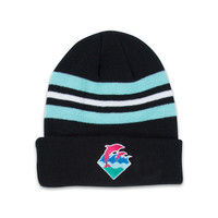 Waves Beanie in Black – Pink+Dolphin