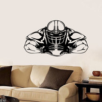 Housewares Sport People American Football Player Wall Vinyl Decal Sticker Any Room Decor V375