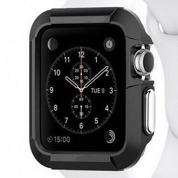 Armored Style Silicone Protective Apple Watch Case