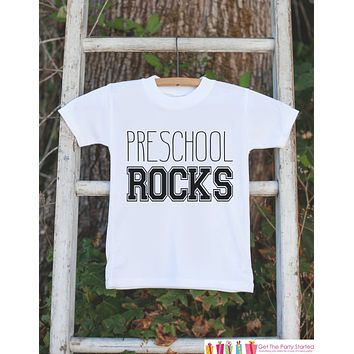 School T-shirt - Preschool Rocks Outfit - Kids Back to School Shirt - Girls or Boys School Top - Preschool Shirt - First Day of School