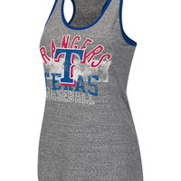 Texas Rangers Womens Gray Complete Game Tank Top