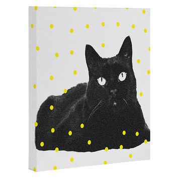 Elisabeth Fredriksson A Black Cat Art Canvas