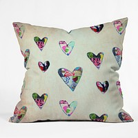Natalie Baca Queen Of Hearts Throw Pillow