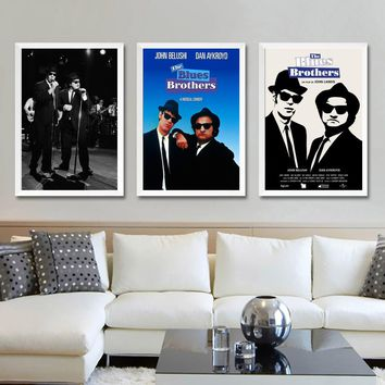 Blues Brothers Retro Vintage Movie TV Wall Art Wall Decor Silk Prints Art Poster Paintings For Living Room No Frame