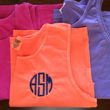 Monogrammed Comfort Color Tank Top