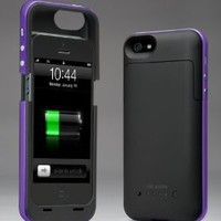 i-Blason PowerPack iPhone 5 Rechargeable External Battery Glider Full Protection Case with Micro 5 Pin USB Charging Port - AT&T, Sprint, Verizon (Purple)