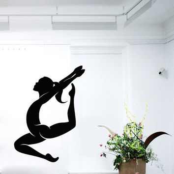 Wall Decals Girl Gymnast Sport Gymnastics People Home Vinyl Decal Sticker Kids Nursery Baby Room Decor kk509