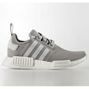 ADIDAS NMD Fashion Casual  Women Men Running Sport Casual Shoes Sneakers Grey G