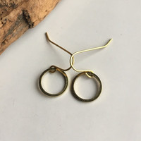 Small Brass Hoop Earrings, Brass Hoops, Tiny Hoops, Dangle Earrings, Hoop Earrings, Etsy, Etsy Jewelry