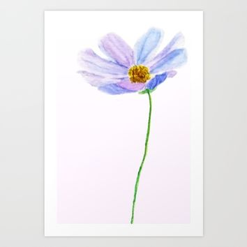 one purple cosmos Art Print by Colorful Nature