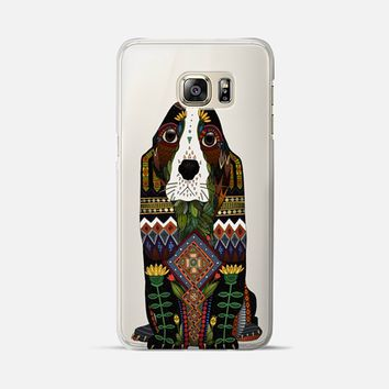 Basset Hound love Samsung transparent Galaxy S6 Edge+ case by Sharon Turner | Casetify