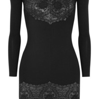 Lover | Reflection lace-paneled twill mini dress  | NET-A-PORTER.COM