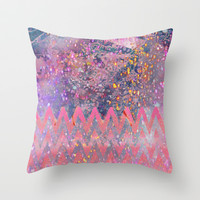 pink play Throw Pillow by Marianna Tankelevich