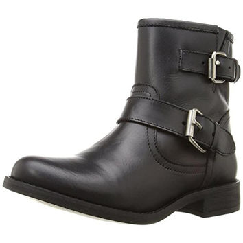 Steve Madden Womens Cain Leather Ankle Motorcycle Boots