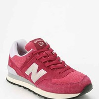 New Balance 574 Pennant Collection Running Sneaker- Maroon