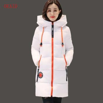 OEAID Fashion Snow Coat Women Parka 2017 Winter Coat Women Jacket Long Thick Slim Ladies Coats Outerwear Parka Jacket Female