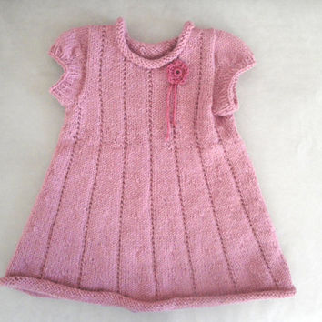 Pink Knit Dress, Baby & Toddler Girls, 1- 2 18 months, Sweater Dress