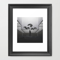 Vultures Framed Art Print by Yurishwedoff