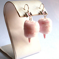 Carnival Cotton Candy Earrings - Pink